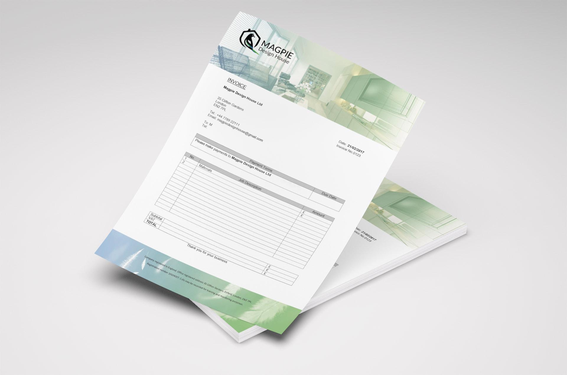 Invoice_Interior-Design-Company